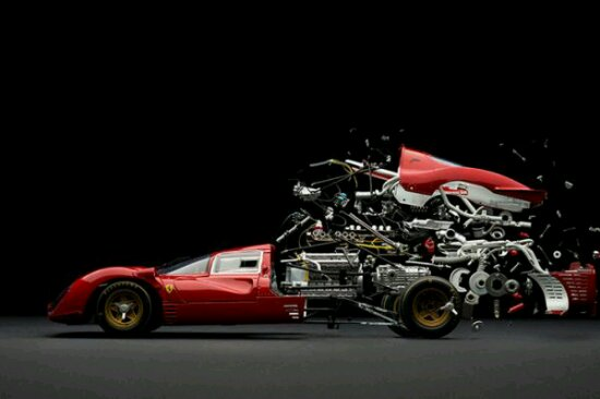Exploded View Of Classic Cars by Fabian Oefner