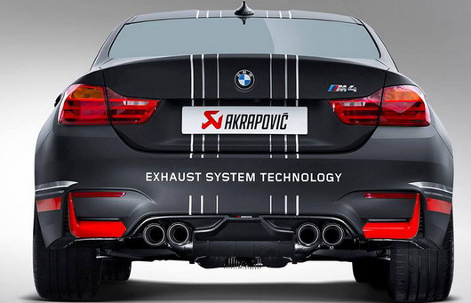 bmw m4 coupe akrapovic exhaust system cars show. Black Bedroom Furniture Sets. Home Design Ideas