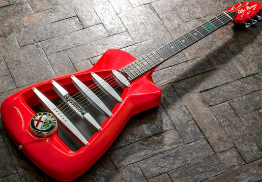 Alfa Romeo Custom Guitar