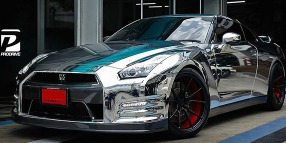 Chrome Nissan GT-R by Prodrive 01