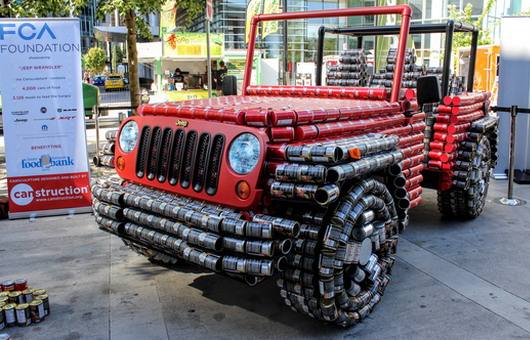 Jeep Wrangler Made of Food Tins
