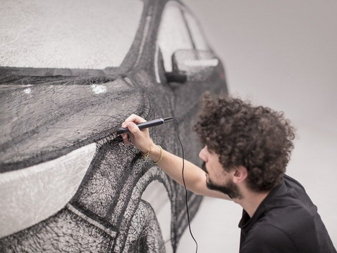 Nissan Qashqai 3D Sculpture Made by 3D Drawing Pen