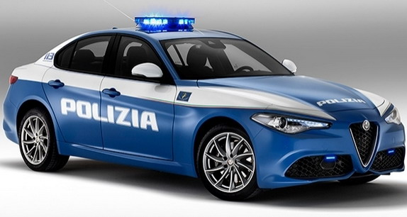 Alfa Romeo Giulia New Police Car in Italy