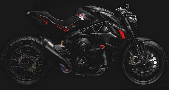 MV Agusta Dragster 800 Blackout debuted in Verona