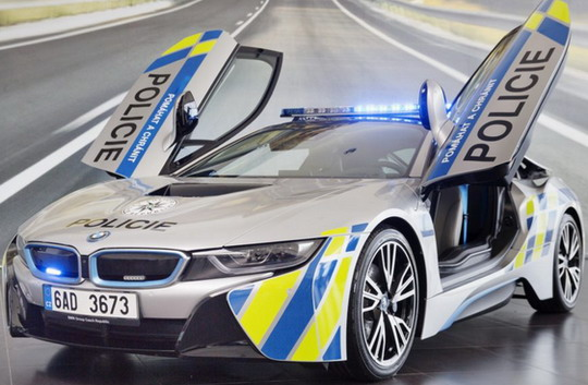 BMW i8 Hybrid Electric Car for Prague Police