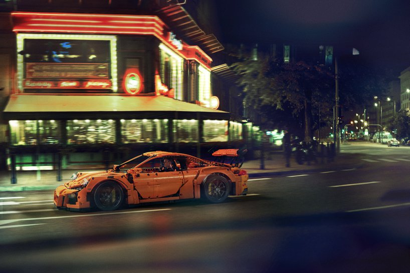 Lego Technic Porsche GT3 RS on streets of Warsaw
