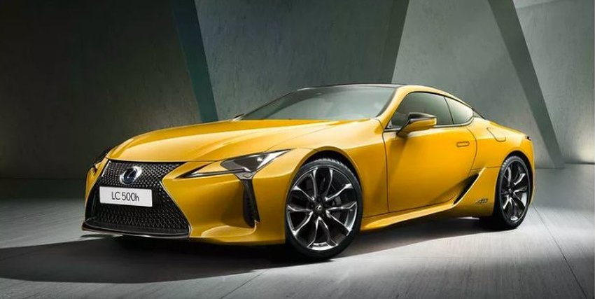 Yellow Lexus LC Limited Edition