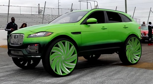 Jaguar F-Pace with 32-Inch Azara Wheels
