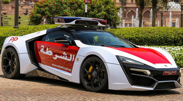 Lykan HyperSport Police Car in Abu Dhabi
