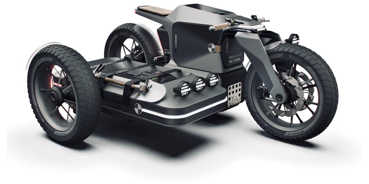BMW X Electric Motorcycle Concept an Long Range Sidecar
